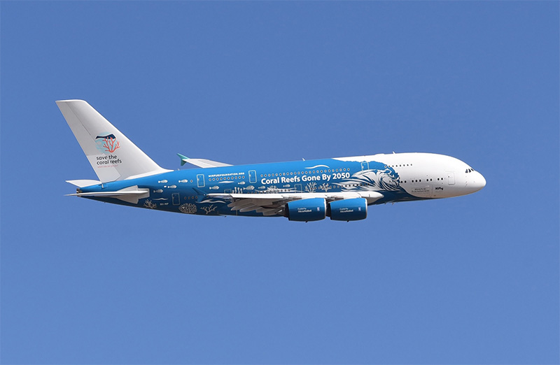 Airbus A380's eye-catching message takes on extra significance